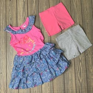 Hello Kitty Dress Under Shorts Girls Summer Bundle